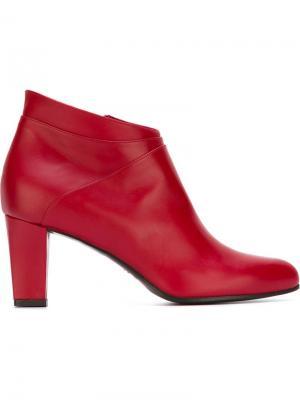 Ботинки по щиколотку на массивном каблуке Carritz. Цвет: красный