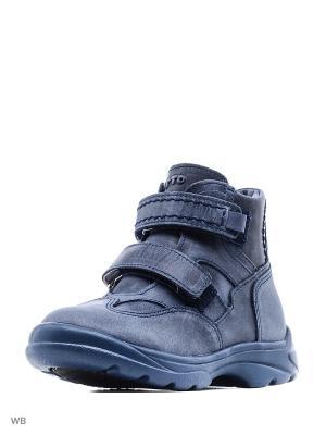 Ботинки Тотто. Цвет: лазурный