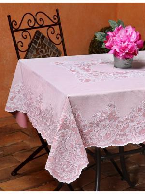 Скатерть прямоугольная розовая 110х140 см NIKLEN. Цвет: розовый