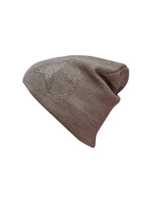 Шапка Kameo-bis. Цвет: коричневый, белый