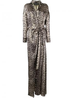 Вечернее платье со шлицей спереди Alexandre Vauthier. Цвет: коричневый