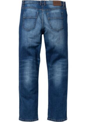 Классические прямые джинсы-стретч, низкий + высокий рост (U S) (синий) bonprix. Цвет: синий