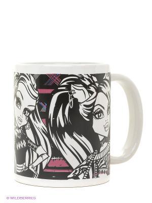 Кружка керамическая Monster High Stor. Цвет: белый, черный, розовый