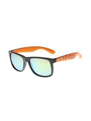 Солнцезащитные очки Gusachi. Цвет: черный, желтый, оранжевый, серебристый