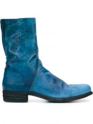 Ботинки с асимметричной молнией A Diciannoveventitre. Цвет: синий