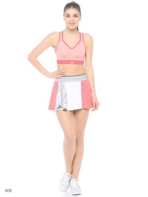 Спортивный бюстгальтер Adidas. Цвет: розовый