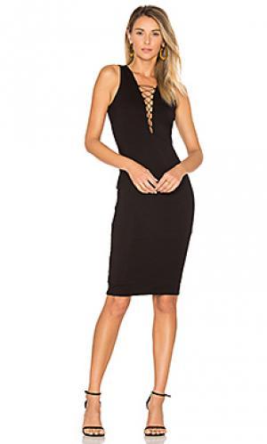 Платье strung out Bardot. Цвет: черный