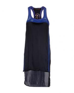 Короткое платье TRE CINQUE SETTE. Цвет: темно-синий
