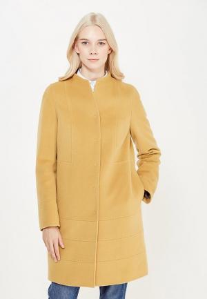 Пальто pompa. Цвет: желтый