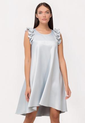 Платье ANNAPAVLA. Цвет: серебряный