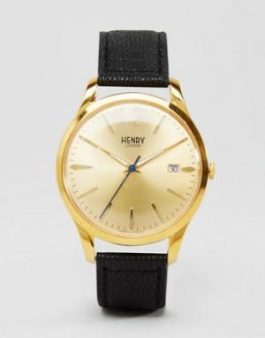 Henry London Часы с черным ремешком Westmister HL39-S-0006. Цвет: черный
