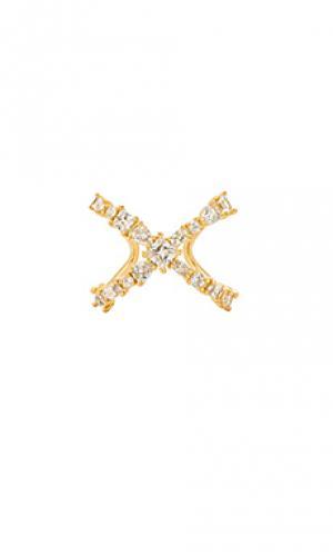 X-образное кольцо the scattered gem Luv AJ. Цвет: металлический золотой