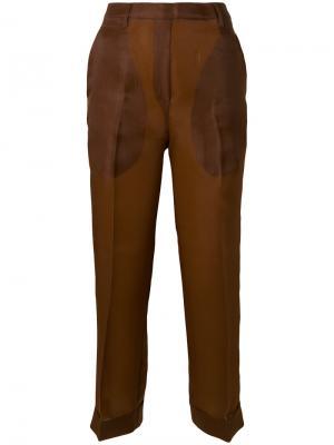 Укороченные брюки с высокой талией Christian Wijnants. Цвет: коричневый