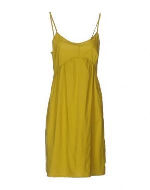 Короткое платье LIVIANA CONTI. Цвет: кислотно-зеленый