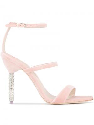 Босоножки Rosalind Crystal 110 Sophia Webster. Цвет: розовый и фиолетовый