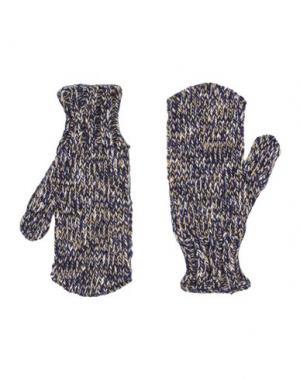 Перчатки DANIELE ALESSANDRINI HOMME. Цвет: темно-синий