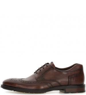 Кожаные туфли дерби с брогированием LLOYD. Цвет: коричневый