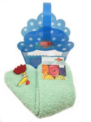 Новогодние носочки в подарочной упаковке HOBBY LINE. Цвет: бирюзовый