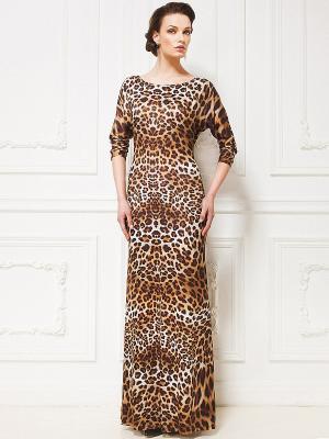 Платье La vida rica. Цвет: коричневый, черный, серый