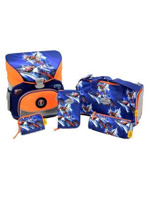 Ранец с наполнением СХВАТКА DerDieDas. Цвет: синий