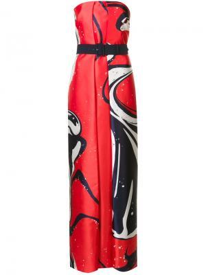 Платье макси Hannah Solace. Цвет: красный