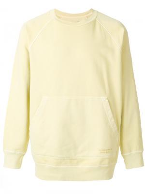 Объемный свитер Burberry. Цвет: жёлтый и оранжевый