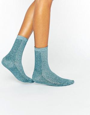 Gipsy Блестящие носки. Цвет: синий