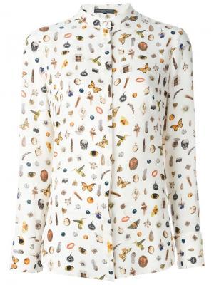 Рубашка с принтом Obsession Alexander McQueen. Цвет: телесный