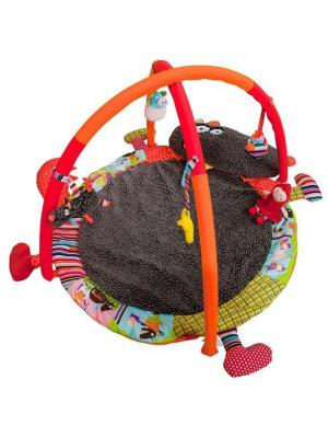 Развивающий коврик Волчонок Ebulobo. Цвет: черный, желтый, красный, серый, темно-серый