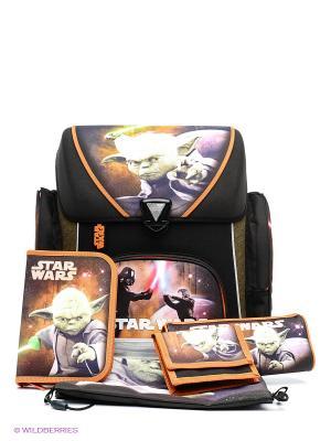 Ранец с наполнением Star Wars Scooli. Цвет: черный, оранжевый