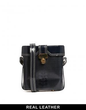 Orla Kiely Темно-синяя сумка Huckleberry. Цвет: синий
