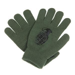 Перчатки  Bomb Army/Black Grenade. Цвет: зеленый