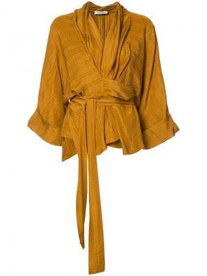 Wrap blouse Rodebjer. Цвет: жёлтый и оранжевый