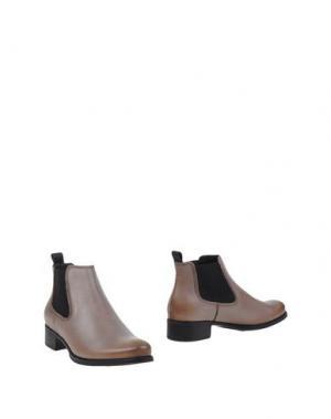 Полусапоги и высокие ботинки TREMP. Цвет: голубиный серый