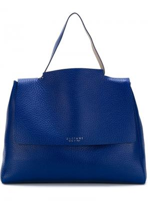 Большая сумка-тоут Orciani. Цвет: синий