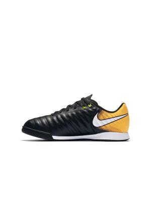 Бутсы JR TIEMPOX LIGERA IV IC Nike. Цвет: черный, оранжевый