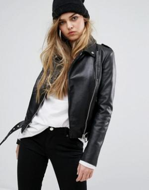 Muubaa Кожаная байкерская куртка Argal. Цвет: черный