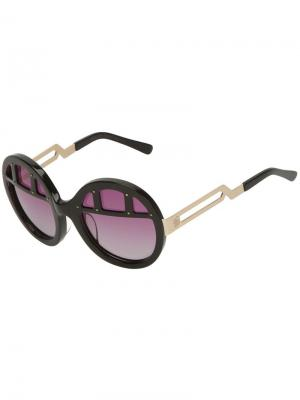 Круглые солнцезащитные очки Coco And Breezy. Цвет: чёрный