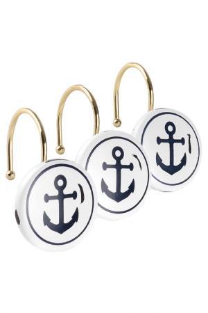 Кольца для занавесок Maritime MOROSHKA. Цвет: белый, синий