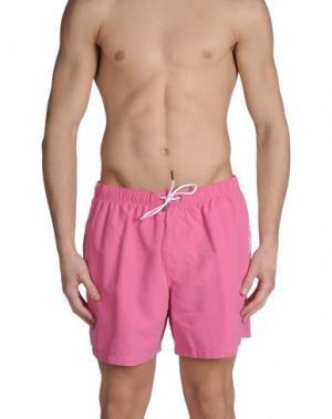 Шорты для плавания EMPORIO ARMANI SWIMWEAR. Цвет: розовый