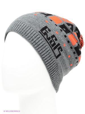 Шапка Ensis. Цвет: серый, оранжевый, черный