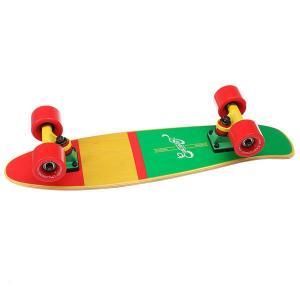Скейт мини круизер  Shelby Rasta 6.25 x 23 (58.4 см) Eastcoast. Цвет: желтый,зеленый,красный