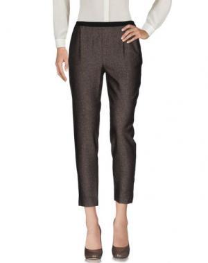 Повседневные брюки MONOCROM. Цвет: темно-коричневый