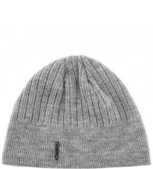 Серая трикотажная шапка с подкладкой Capo. Цвет: серый