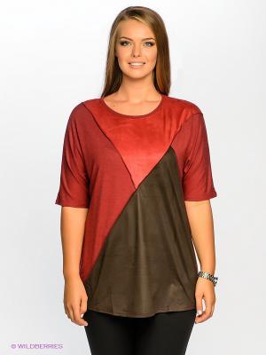 Туника МадаМ Т. Цвет: темно-красный, коричневый