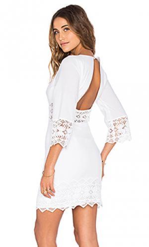 Платье с вырезами tulum Nightcap. Цвет: белый