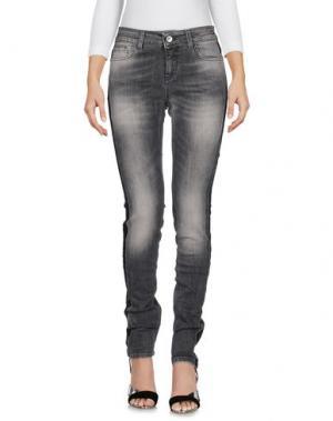 Джинсовые брюки MICHELA MII. Цвет: свинцово-серый