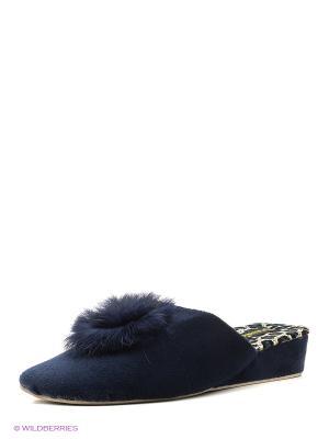 Тапочки женские Dream Feet. Цвет: синий