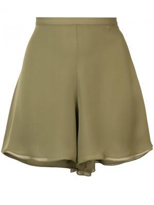 Расклешенные шорты Sally Lapointe. Цвет: зелёный