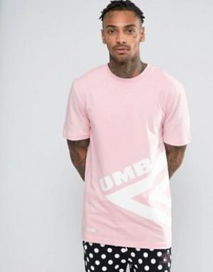 House of Holland Футболка с большим логотипом x Umbro. Цвет: розовый